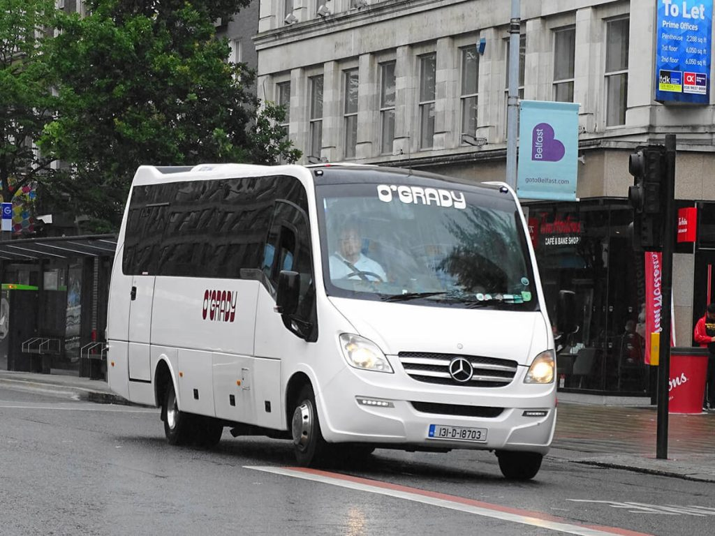 OGrady midi coach hire Dublin City tour 33 seats tourist