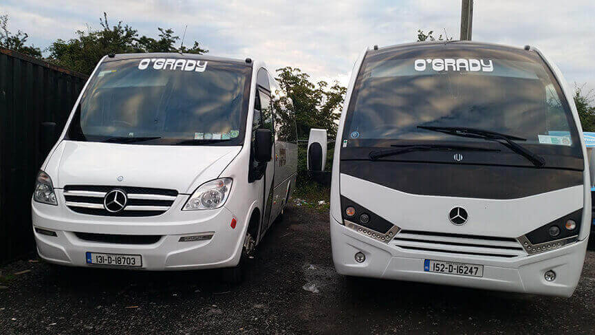 OGrady coach and mini bus hire Dublin coaches for employee transport and staff shuttle services
