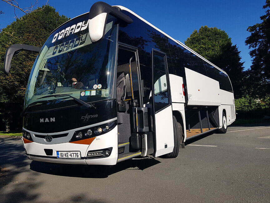 OGrady coach and mini bus hire Dublin corporate touring coach for luxury golf tours in Ireland
