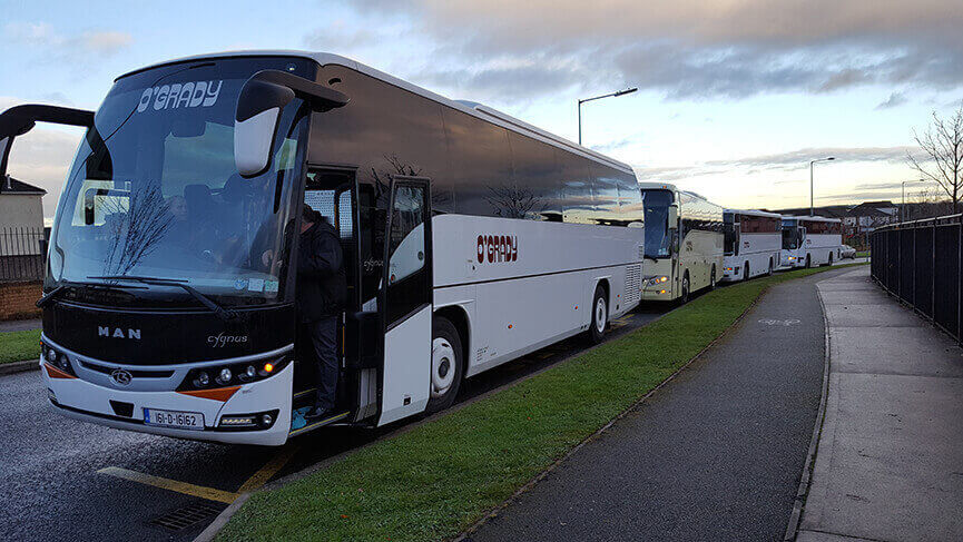 OGrady coaches and mini bus hire Dublin school tours and educational coach hire groups