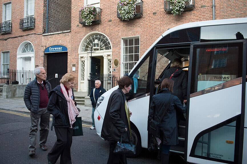 OGrady mini coach hire Dublin city day tours Georgian Dublin